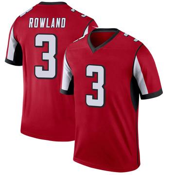 Youth Nike Atlanta Falcons Chris Rowland Red Jersey - Legend