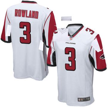 Youth Nike Atlanta Falcons Chris Rowland White Jersey - Game