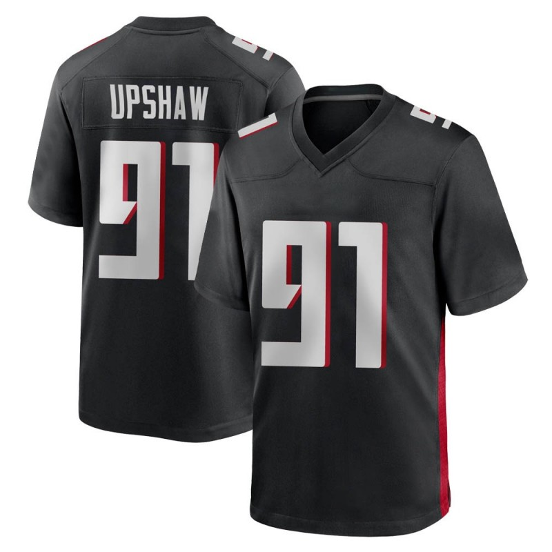 Youth Nike Atlanta Falcons Courtney Upshaw Black Alternate Jersey - Game
