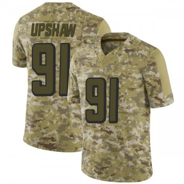 Youth Atlanta Falcons Courtney Upshaw Camo 2018 Salute to Service Jersey - Limited