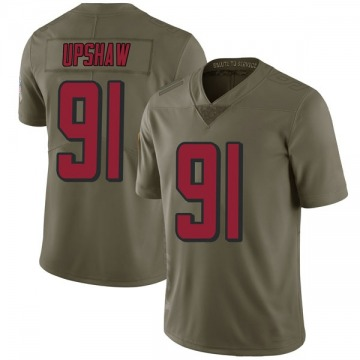 Youth Nike Atlanta Falcons Courtney Upshaw Green 2017 Salute to Service Jersey - Limited