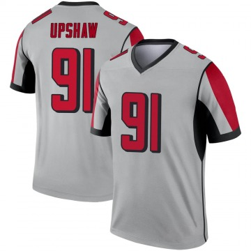 Youth Nike Atlanta Falcons Courtney Upshaw Inverted Silver Jersey - Legend