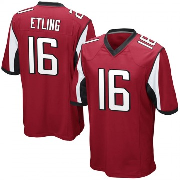 Youth Nike Atlanta Falcons Danny Etling Red Team Color Jersey - Game