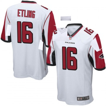 Youth Nike Atlanta Falcons Danny Etling White Jersey - Game