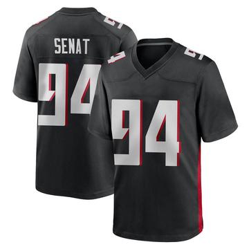Youth Nike Atlanta Falcons Deadrin Senat Black Alternate Jersey - Game