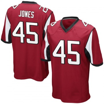 Youth Nike Atlanta Falcons Deion Jones Red Team Color Jersey - Game