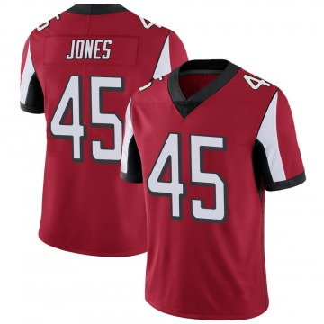 Youth Nike Atlanta Falcons Deion Jones Red Team Color Vapor Untouchable Jersey - Limited