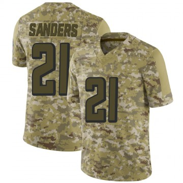Youth Nike Atlanta Falcons Deion Sanders Camo 2018 Salute to Service Jersey - Limited