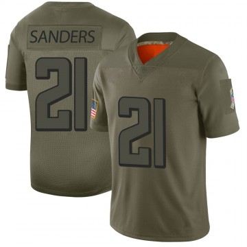 Youth Nike Atlanta Falcons Deion Sanders Camo 2019 Salute to Service Jersey - Limited