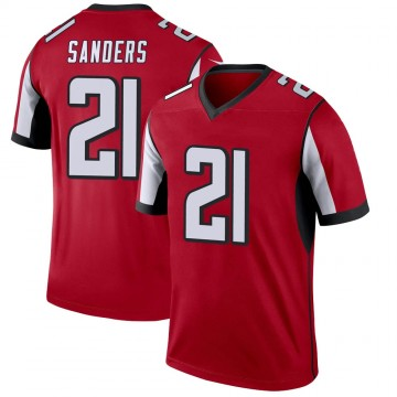 Youth Nike Atlanta Falcons Deion Sanders Red Jersey - Legend