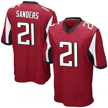 Youth Nike Atlanta Falcons Deion Sanders Red Team Color Jersey - Game
