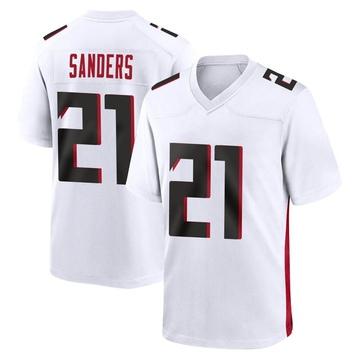 Youth Nike Atlanta Falcons Deion Sanders White Jersey - Game