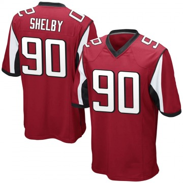Youth Nike Atlanta Falcons Derrick Shelby Red Team Color Jersey - Game