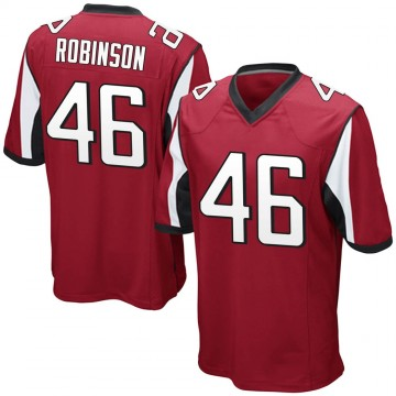 Youth Nike Atlanta Falcons Edmond Robinson Red Team Color Jersey - Game
