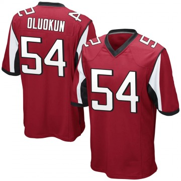Youth Nike Atlanta Falcons Foye Oluokun Red Team Color Jersey - Game