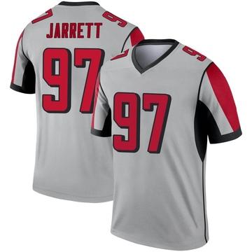 Youth Nike Atlanta Falcons Grady Jarrett Inverted Silver Jersey - Legend