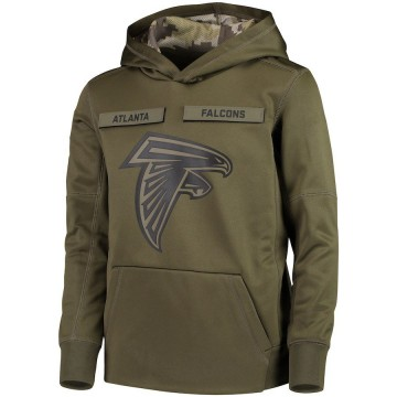 Youth Nike Atlanta Falcons Green 2018 Salute to Service Pullover Performance Hoodie -