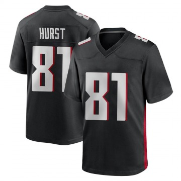Youth Nike Atlanta Falcons Hayden Hurst Black Alternate Jersey - Game