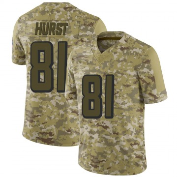 Youth Nike Atlanta Falcons Hayden Hurst Camo 2018 Salute to Service Jersey - Limited