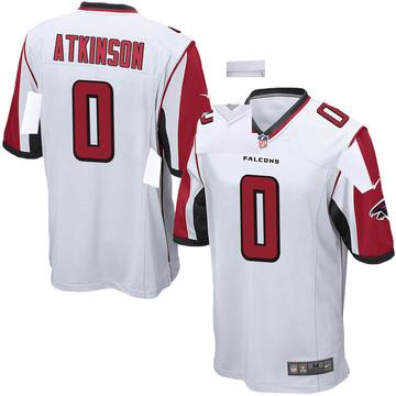 Youth Nike Atlanta Falcons Hunter Atkinson White Jersey - Game
