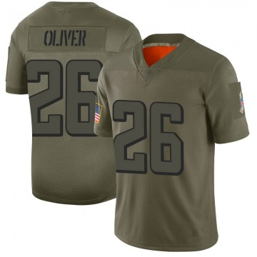 Youth Nike Atlanta Falcons Isaiah Oliver Camo 2019 Salute to Service Jersey - Limited
