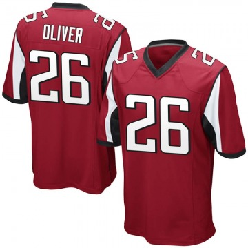 Youth Nike Atlanta Falcons Isaiah Oliver Red Team Color Jersey - Game