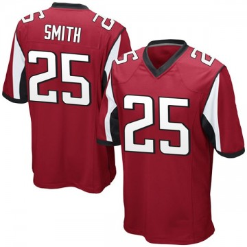 Youth Nike Atlanta Falcons Ito Smith Red Team Color Jersey - Game
