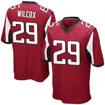 Youth Nike Atlanta Falcons J.J. Wilcox Red Team Color Jersey - Game