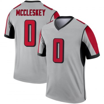 Youth Nike Atlanta Falcons Jalen McCleskey Inverted Silver Jersey - Legend