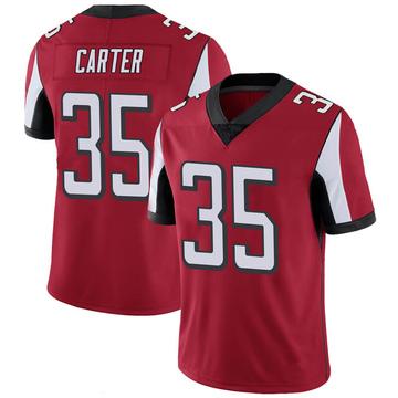 Youth Nike Atlanta Falcons Jamal Carter Red 100th Vapor Jersey - Limited