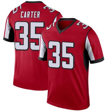 Youth Nike Atlanta Falcons Jamal Carter Red Jersey - Legend