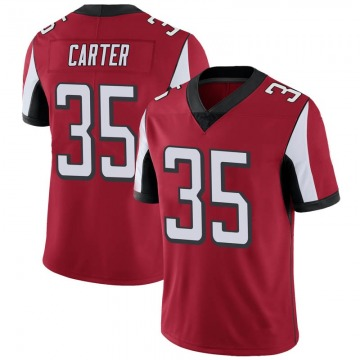 Youth Nike Atlanta Falcons Jamal Carter Red Team Color Vapor Untouchable Jersey - Limited