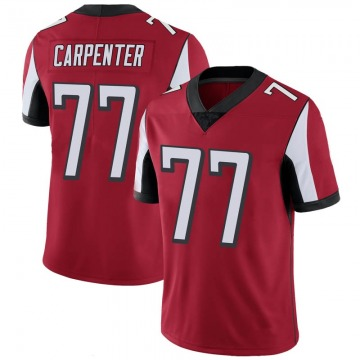 Youth Nike Atlanta Falcons James Carpenter Red 100th Vapor Jersey - Limited
