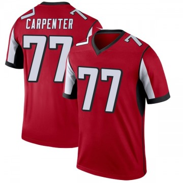 Youth Nike Atlanta Falcons James Carpenter Red Jersey - Legend