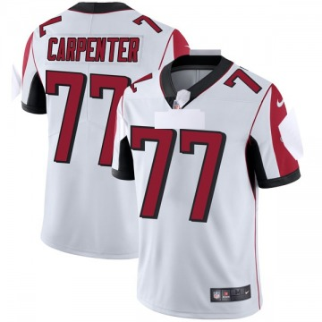 Youth Nike Atlanta Falcons James Carpenter White Vapor Untouchable Jersey - Limited