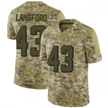 Youth Nike Atlanta Falcons Jeremy Langford Camo 2018 Salute to Service Jersey - Limited