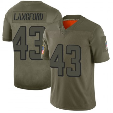 Youth Nike Atlanta Falcons Jeremy Langford Camo 2019 Salute to Service Jersey - Limited