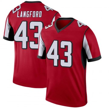 Youth Nike Atlanta Falcons Jeremy Langford Red Jersey - Legend