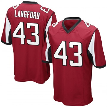 Youth Nike Atlanta Falcons Jeremy Langford Red Team Color Jersey - Game