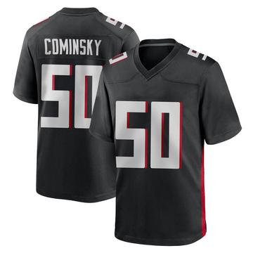 Youth Nike Atlanta Falcons John Cominsky Black Alternate Jersey - Game