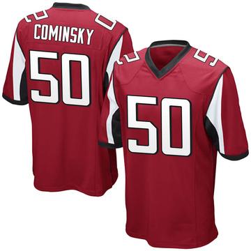 Youth Nike Atlanta Falcons John Cominsky Red Team Color Jersey - Game