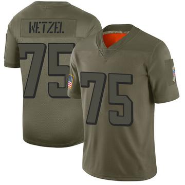 Youth Nike Atlanta Falcons John Wetzel Camo 2019 Salute to Service Jersey - Limited