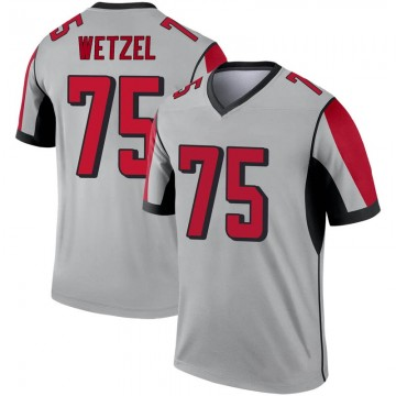 Youth Nike Atlanta Falcons John Wetzel Inverted Silver Jersey - Legend
