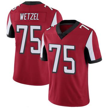 Youth Nike Atlanta Falcons John Wetzel Red 100th Vapor Jersey - Limited