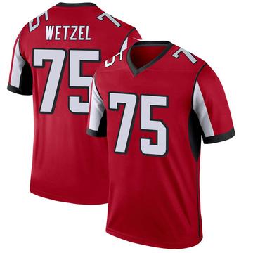 Youth Nike Atlanta Falcons John Wetzel Red Jersey - Legend
