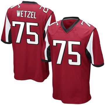 Youth Nike Atlanta Falcons John Wetzel Red Team Color Jersey - Game