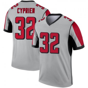 Youth Nike Atlanta Falcons Johnathan Cyprien Inverted Silver Jersey - Legend