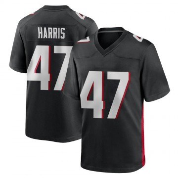 Youth Nike Atlanta Falcons Josh Harris Black Alternate Jersey - Game