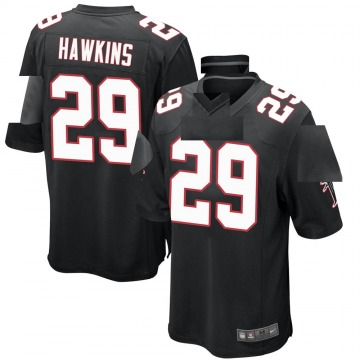 Youth Nike Atlanta Falcons Josh Hawkins Black Alternate Jersey - Game