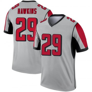 Youth Nike Atlanta Falcons Josh Hawkins Inverted Silver Jersey - Legend